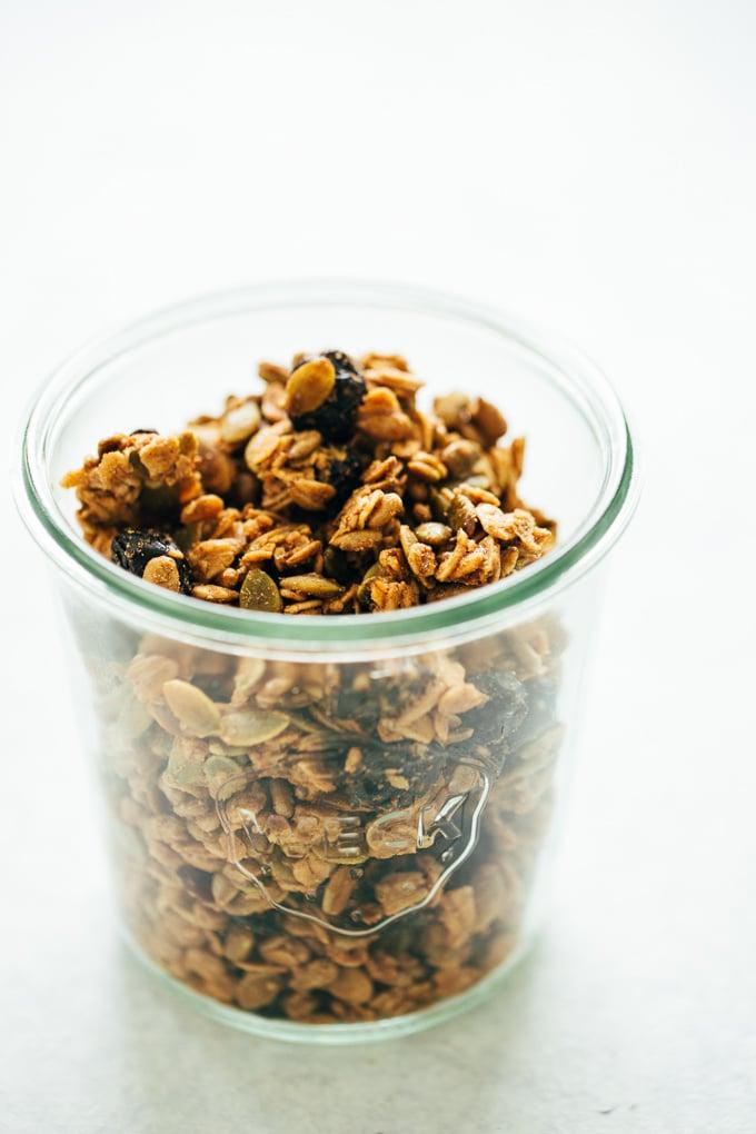 Super Seedy Cinnamon Granola Clusters