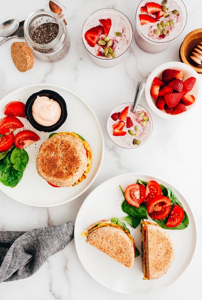 Vegan Breakfast Brunch Spread