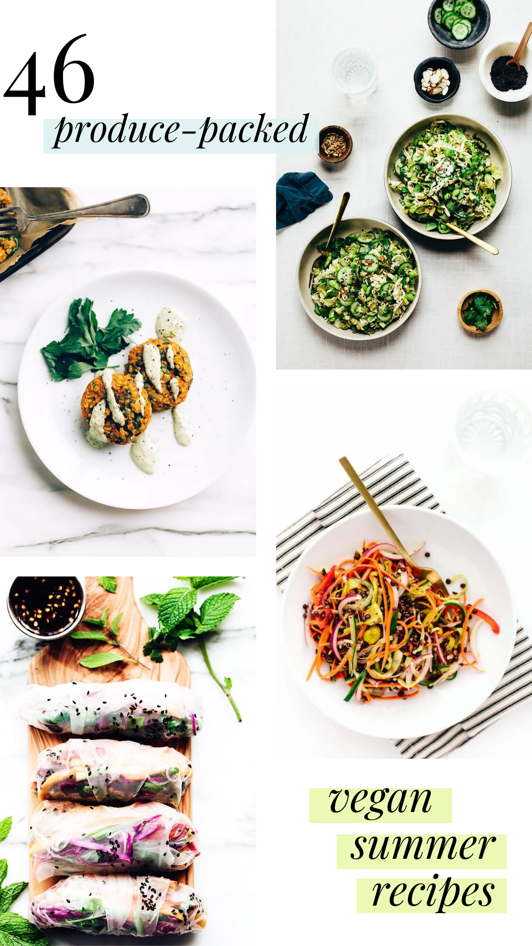 Vegan Summer Recipes Roundup