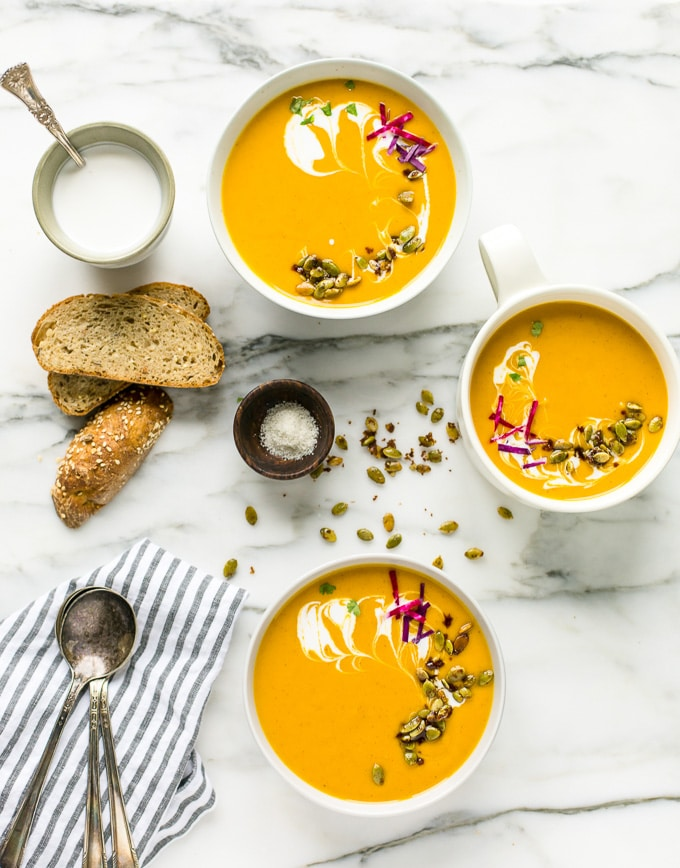 Vegan Golden Butternut Squash Bisque