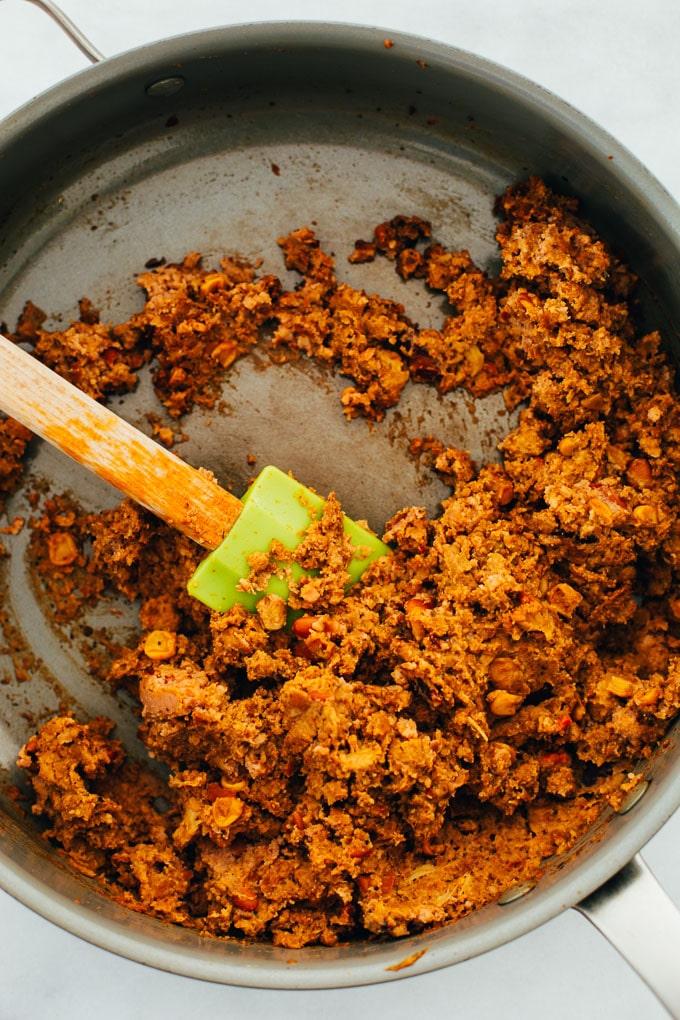 Easy Vegan Enchiladas Nasoya Superfood Skillet