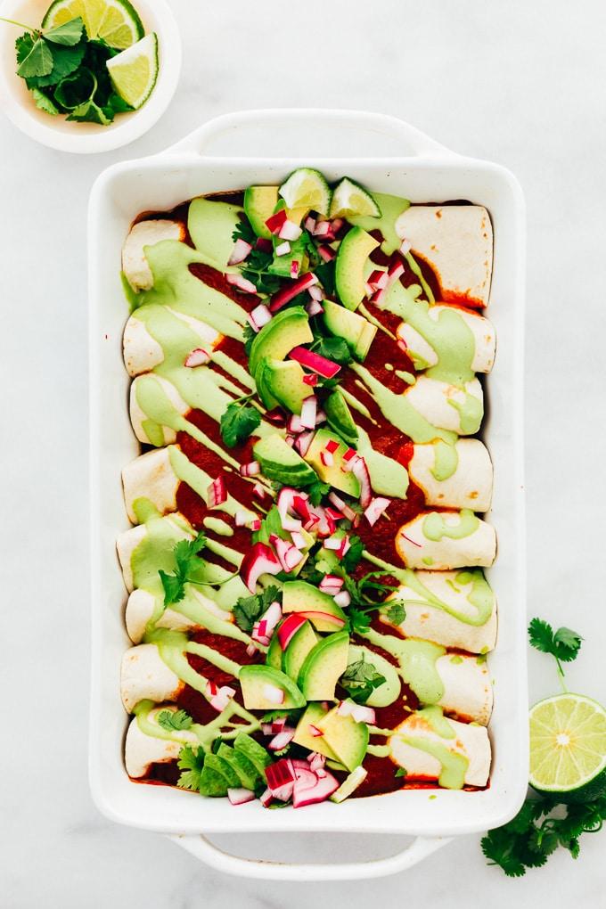 Easy Vegan Enchiladas